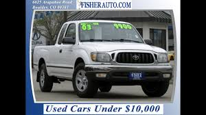 100 Toyota Tacoma Used Trucks Cars 2003 XtraCab BoulderLongmontDenver Fisher Auto P7064A