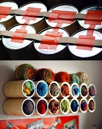 Use Coffee Canisters To Store Yarn