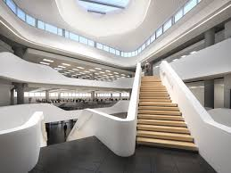 100 Architects And Interior Designers Fluid Curvilinear Design For Bank Head Office Dhk