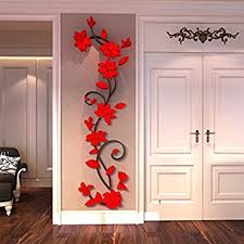 Generic DIY 3D Flower Decal Vinyl Decor Art Home Living Room Wall Sticker Removable Mural Acrylic