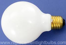 60g25f 130v 60w frosted white globe light bulb replacement l