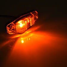 100 Truck Clearance Lights 8x 25in Amber LED Side Marker Trailer Lamp