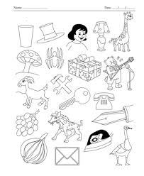 Color The Picture Which Start With Letter G Sheet