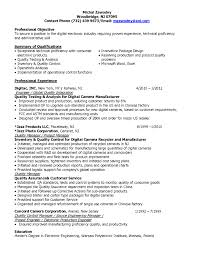 Controls Engineer Sample Resume Collection Of Solutions Quality Control