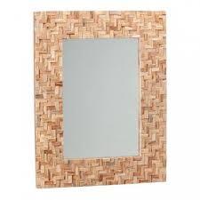 badspiegel aus teakholz mosaik rahmen