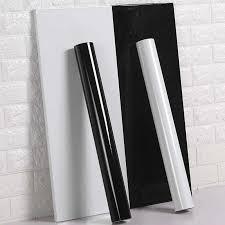 neue pvc reine farbe wasserdichte tapete zimmer selbst adhesive schwarz weiß schrank küche hochglanz paste möbel wand aufkleber