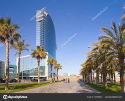 100 W Hotel In Barcelona Spain Fancy Hotel In Panorama Stock Editorial Photo