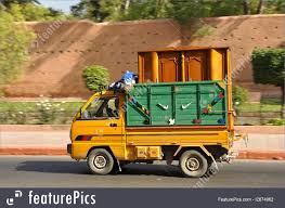 Truck Transport: Small Truck In The Street Of Marrakesh, Morocco ...
