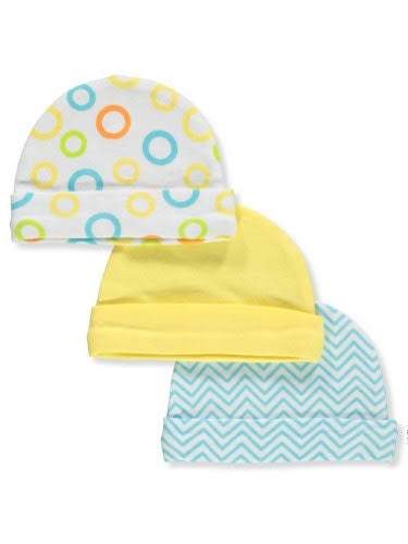 Luvable Friends Unisex Baby 3-Pack Knit Beanies - Multi