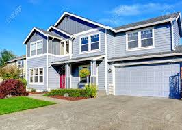 100 Picture Of Two Story House Light Blue Two Story House With Column Entrance Porch Garage