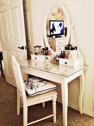 Diy Makeup Desk Ikea by Table Tasty Diy Makeup Vanity Ikea Table With Mirror And Bench Dsc