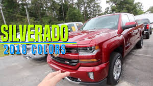100 Chevrolet Truck Colors Heres The Of The 2018 Silverados Exterior Color