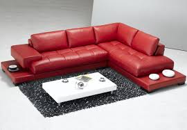 Red Leather Couch Living Room Ideas by Luxury And Contemporary Red Leather Sectional Sofa Furniture