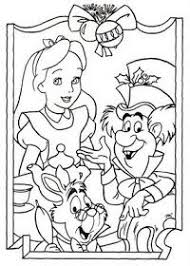 DISNEY COLORING PAGES ALICE IN WONDERLAND PAGE