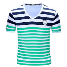 new brand men t shirt mens stripe printing tees homme casual short