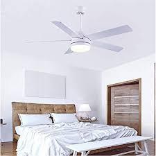 cjoy deckenventilator mit le und fernbedienung deckenleuchte mit ventilator schlafzimmer wohnzimmer 52 zoll 5 ventilatorflügel led weiß