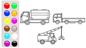 100 Construction Truck Coloring Pages Water Tank Dump Truck And Crane Truck Coloring Pages