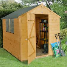 8x6 Wood Storage Shed by 8x6 Aero Curved Roof Shiplap Wooden Shed Departments Diy At B U0026q