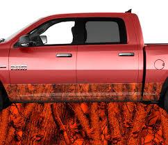 100 Truck Kits Blaze Inferno Red Rocker Panel Wrap Graphic Decal Wrap Kit