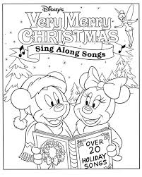 Disney Christmas Songs Coloring Pages Cards Cartoons Mickey Mouse And Minnie
