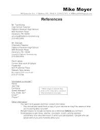 Reference Resume Samples Example Of References On A Format