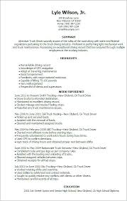 Truck Driver Resume Examples Sample Of Resumes For Drivers No Experience