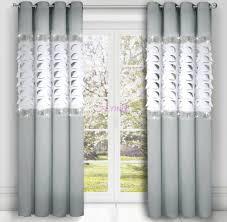 2er set gardinen fertiggardine panel weiß hellgrau vorhang