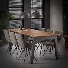 esstisch braun grau tisch industriedesign breite 210 cm
