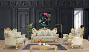 casa padrino luxus barock wohnzimmer set hellgrün gold 2 sofas 2 sessel 1 couchtisch handgefertigte barock wohnzimmer möbel edel