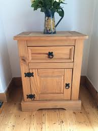 Rustic Style Wooden Chest Cupboard Bedside Table Part Of A Bedroom Furniture Set