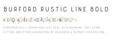 Burford Rustic Std Line Bold