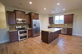 Dark Hardwood Floors With Light Wood Cabinets Different Types Of Floor Kitchen