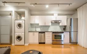 contemporary modern kitchen design with white glass subway