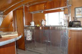 Photo Of Amazing Stainless Steel Kitchen Cabinets In Vintage 1947 Aero Flite Trailer