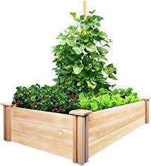 amazon com greenes fence raised garden bed 48 l x 48 w x 7 h