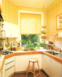 An 80s Kitchen With Lattice Wallpaper