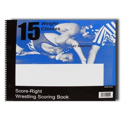 Score Right 13185 Wrestling Scorebook 30 Match