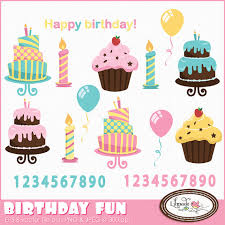 Birthday clipart cake clipart candle clipart cupcake clipart birthday numbers clipart balloon clipart mercial use clipart C280