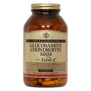 Solgar Glucosamine Chondroitin MSM With Ester C - 180 Tablets
