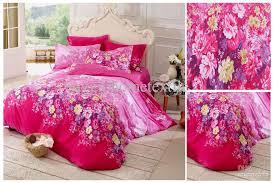 Beautiful Pink Bedding Set  Cotton Fabric forter Sets Full