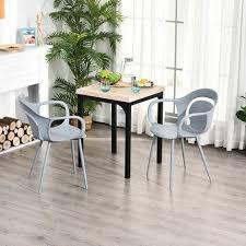 homcom 2 teiliges esszimmerstuhl set stuhl küchenstuhl