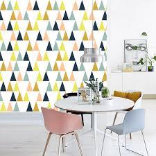 papier peint pour bureau moderne simple triangle forme géométrique papier peint mural pour