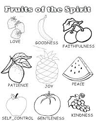 Fruit Coloring Pages Fruits Of The Spirit Sheets Free Printable Colouring