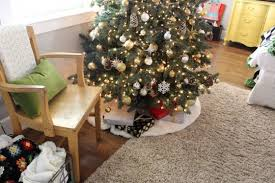 Kmart Christmas Tree Skirt by Christmas Home Tour Luxe Lodge U2014 The Pleated Poppy