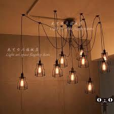Edison Bulb Chandelier Creative Restaurant Minimalist Living Room Bedroom Wrought Iron Tiannvsanhua A Copper Scourin