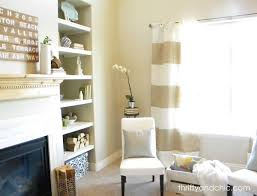 Yellow And White Striped Curtains by Thrifty And Chic Diy Projects And Home Decor