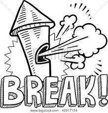 Break Time Work Whistle Sketch Poster