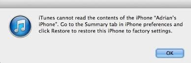 How to Fix iTunes Cannot Read the Contents of iPhone and iPad