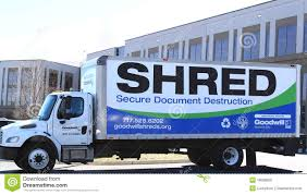 Mobile Document Shredding Truck Editorial Image - Image Of Isolated ...
