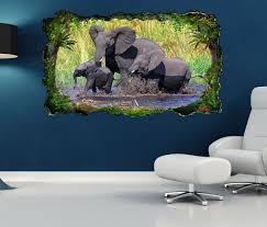 3d wandtattoo elefant elefanten baby familie afrika tiere selbstklebend wandbild wandsticker wohnzimmer wand aufkleber 11o330 3dwandtattoo24 de